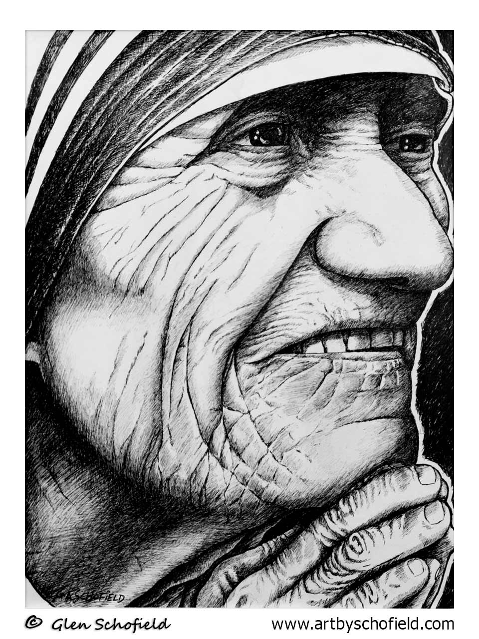#086 Mother Theresa 18 X 24